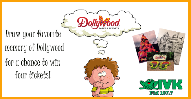 Enter the art contest to win tickets to Dollywood!