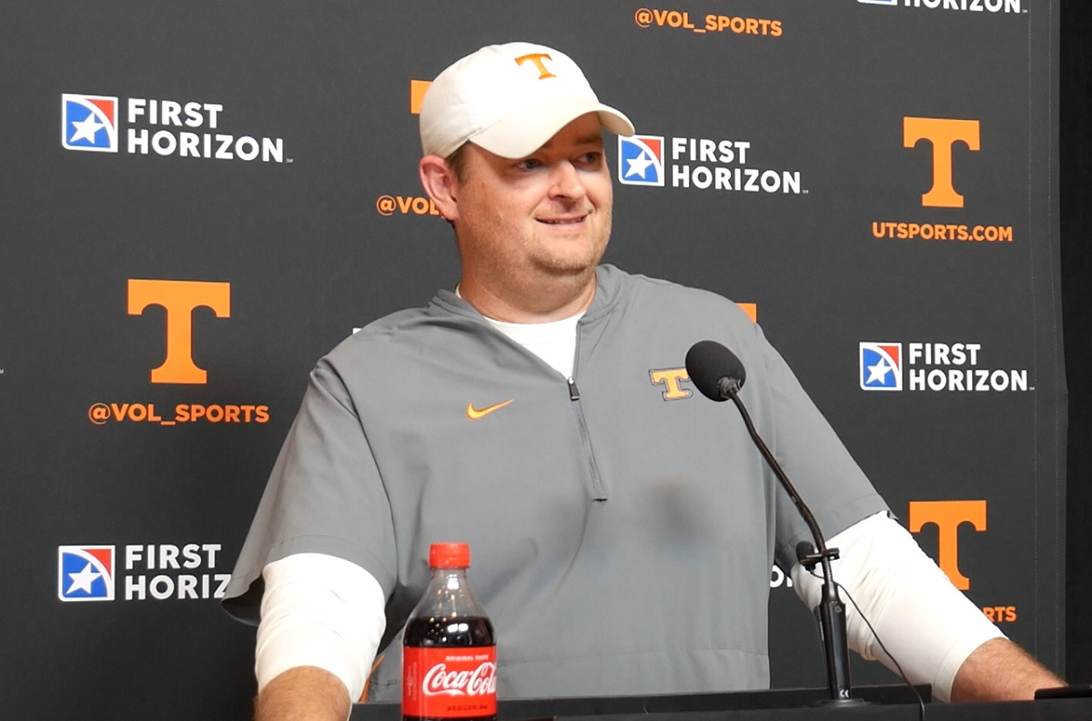 """WATCH: Heupel """"Uniforms is something important to them (players.) In some ways, it's important in the recruiting world as well."""""""