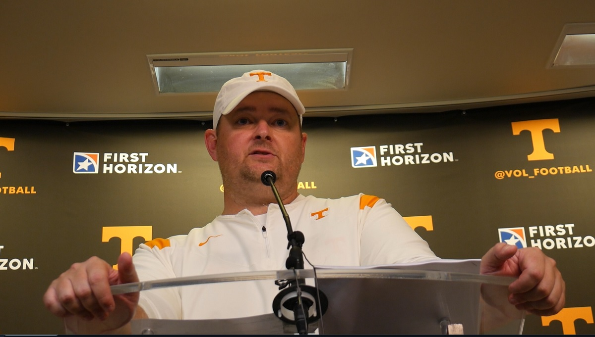 """WATCH: Heupel after win over SC """"There were some new guys out there. They showed up. A lot to be proud of."""""""
