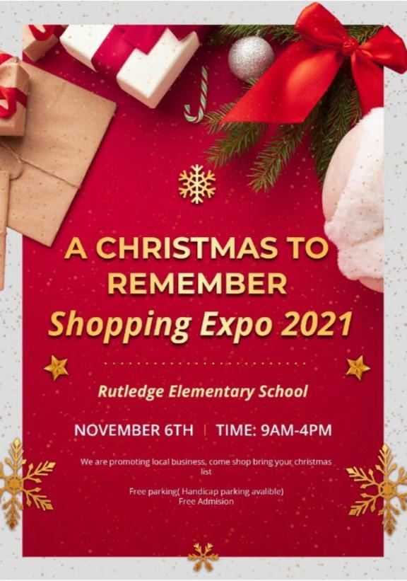 Shopping Expo – Rutledge Elementary School – November 6th