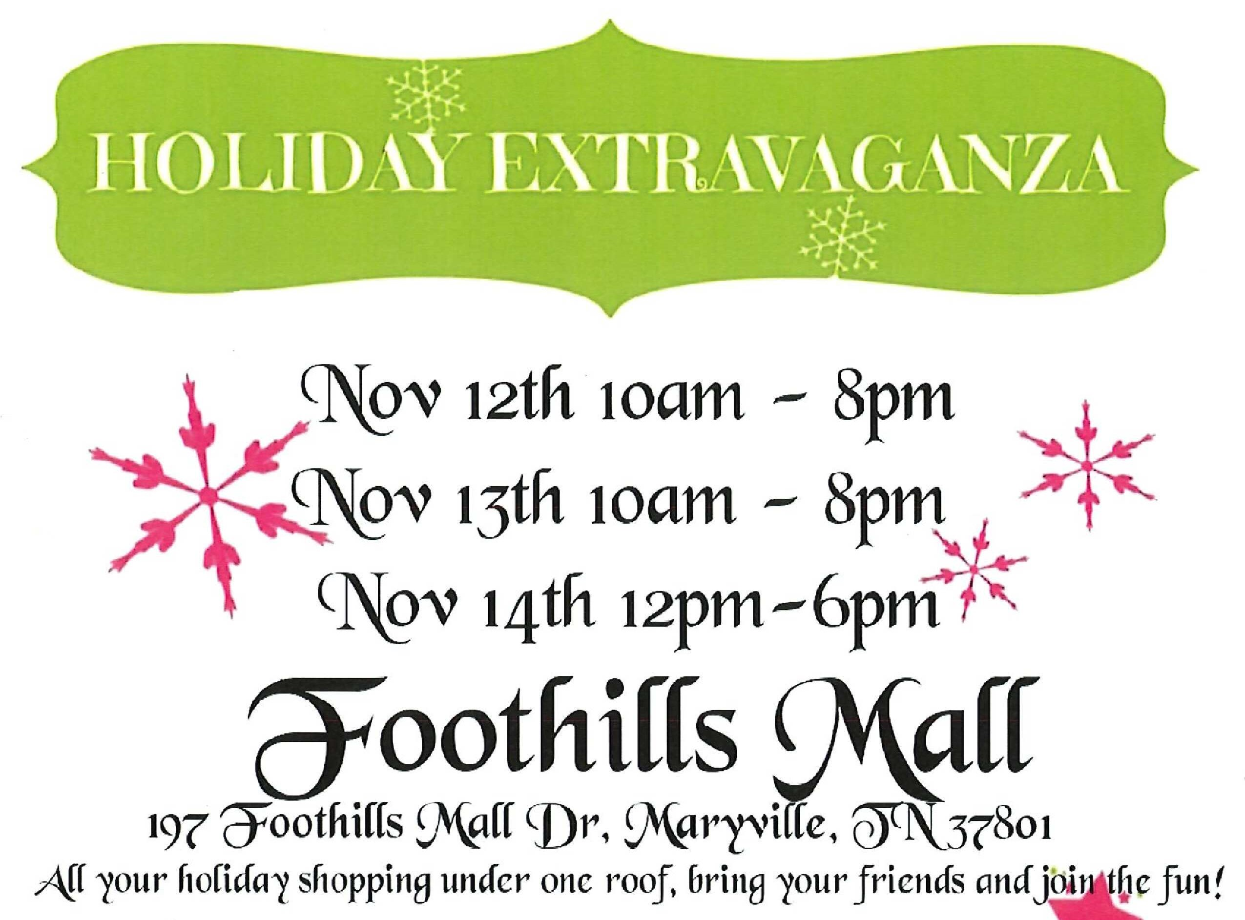 Holiday Extravaganza Craft Fair at Foothills Mall