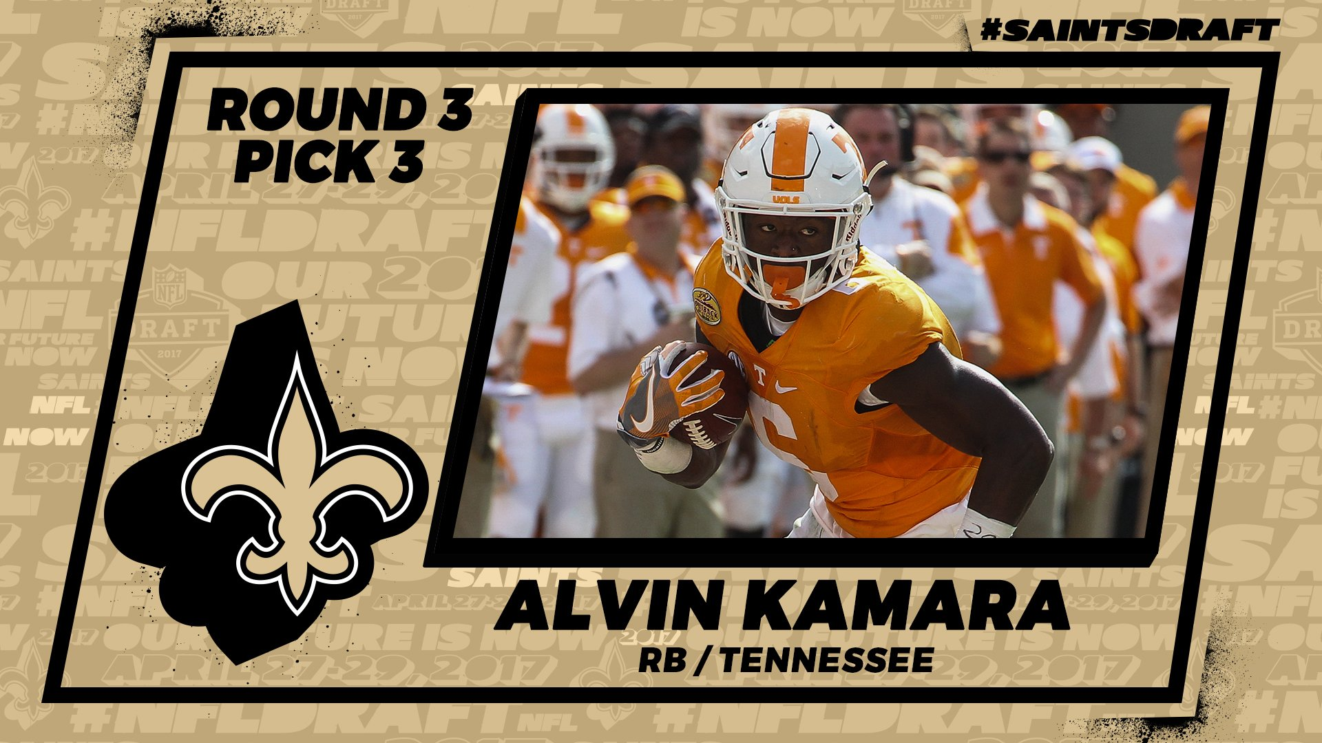 Alvin Kamara Selected In 3rd Rd 67 By New Orleans Saints Wivk Fm
