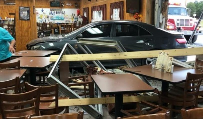 No Injuries After Car Crashes Into Dandridge Store