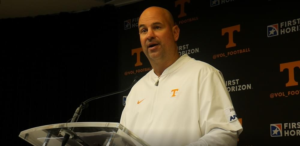 "Video: Pruitt on Ansley ""He's done a phenomenal job. He's improving as a play caller."""