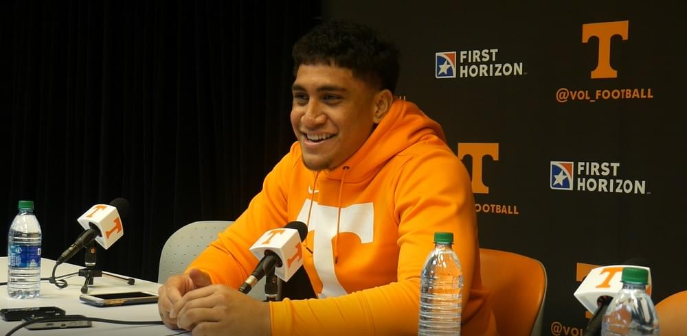 Video: Freshman Henry To'oto'o after Tennessee beat UAB 30-7