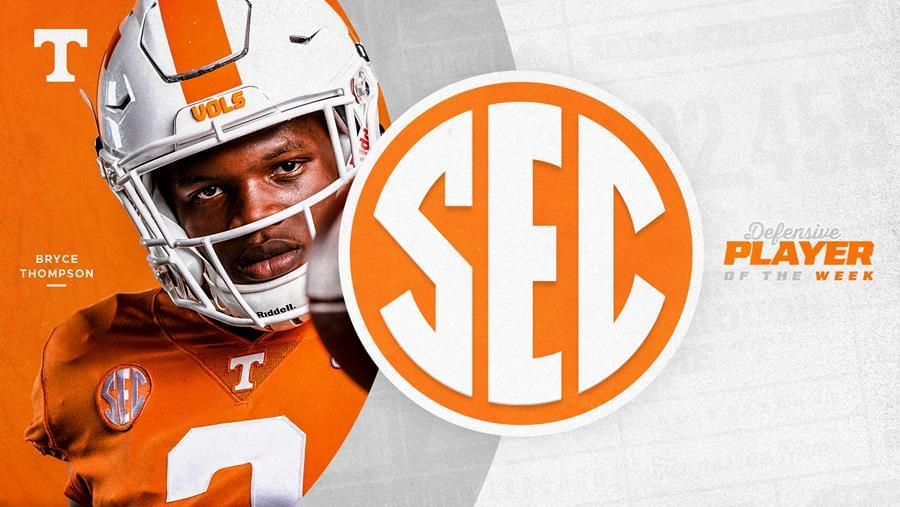 Thompson Named SEC Defensive Player of the Week