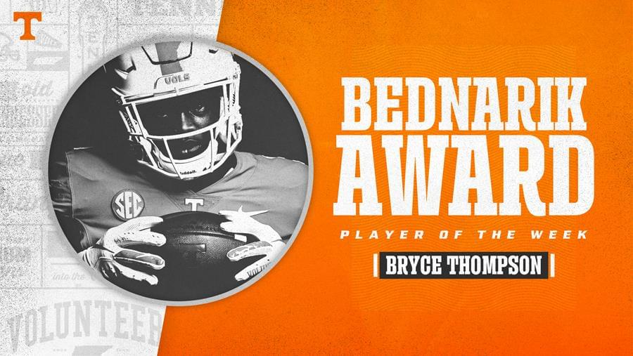 Thompson Named Bednarik Award Player of the Week
