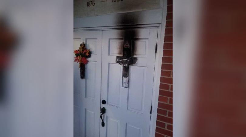 Cross Set on Fire at Greene County Church