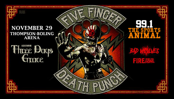 Five Finger Death Punch at Thompson-Boling Arena