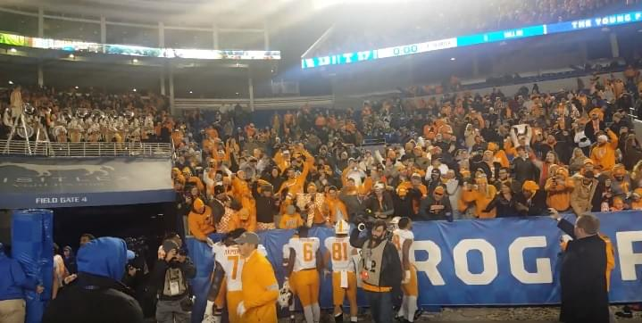 Video: UT celebrates with the fans after 17-13 win over UK