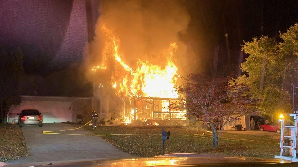 Massive Fire at West Knox County Home