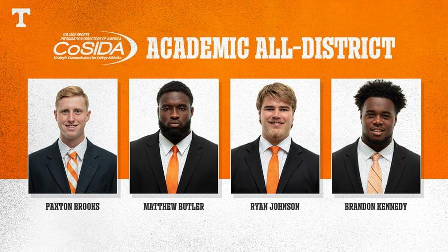 Record Four Vols Named to Academic All-District Team