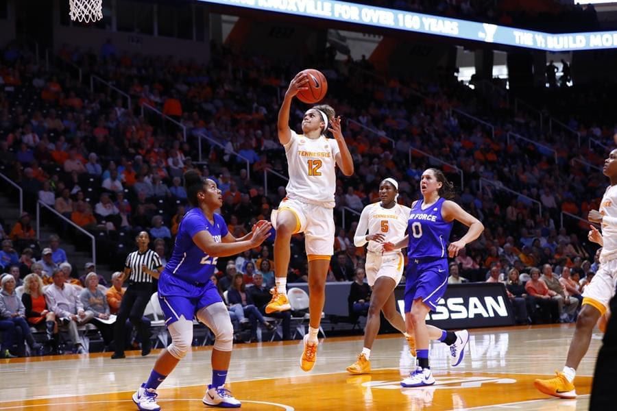 Lady Vols Fly Past Air Force, 81-54