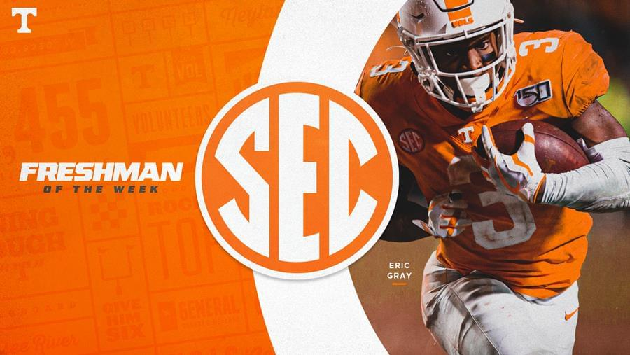 Gray Named SEC Freshman of the Week After Record-Setting Performance