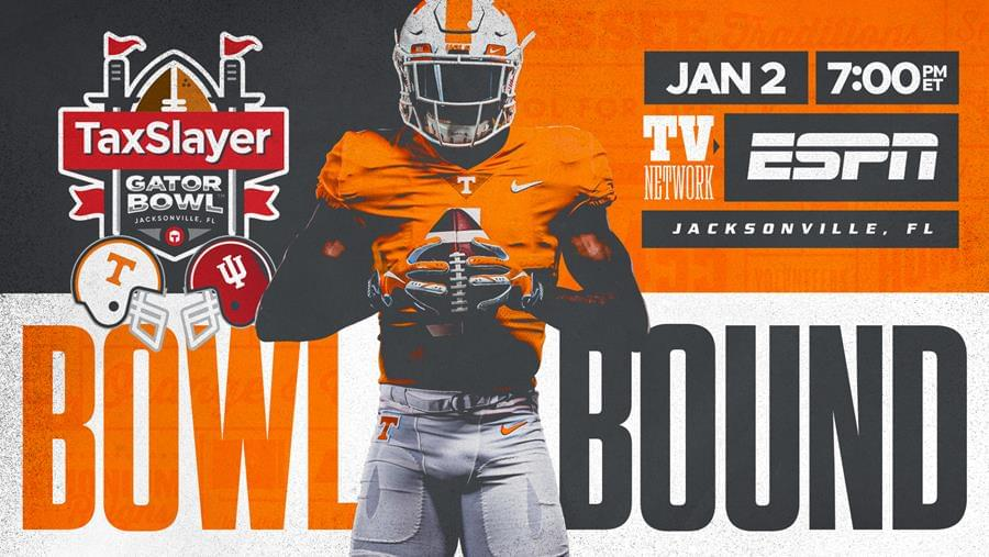 Vols to Play Indiana in TaxSlayer Gator Bowl