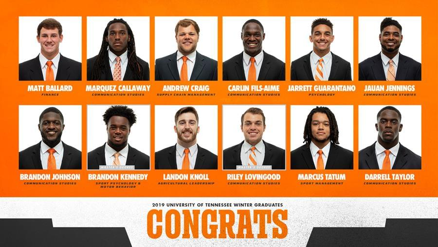 Twelve Vols to Graduate Early