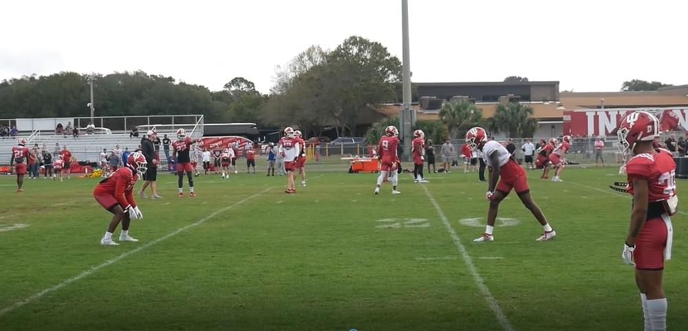 Video: Indiana Football Bowl Practice in Jacksonville