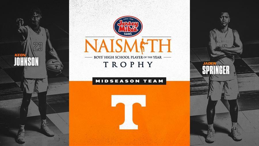 Signees Johnson, Springer Named to Midseason Team for Naismith High School Trophy