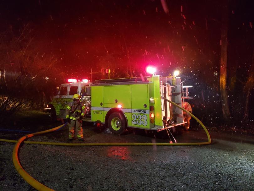 Rural Metro Battles Barn Fire in Halls
