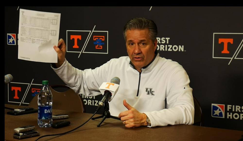 "Video: Calipari on Vols ""They're good. They play really hard."""