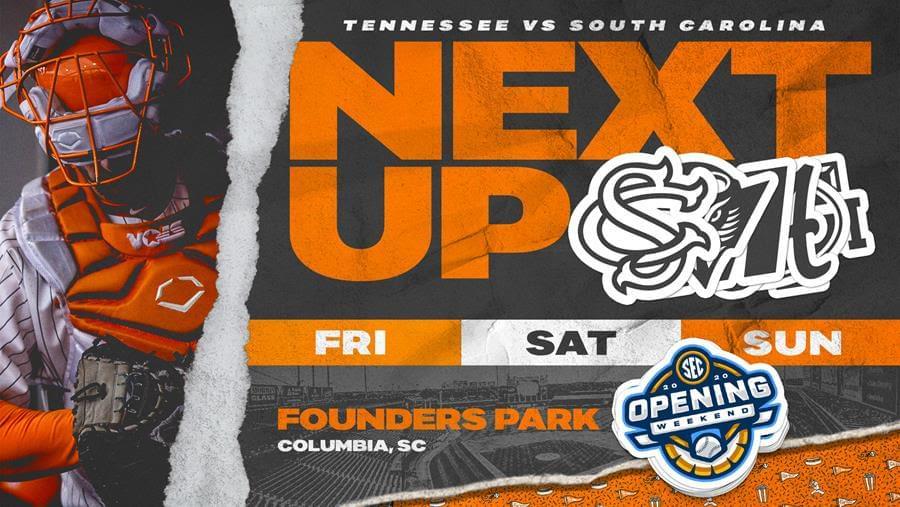 Tennessee Baseball Preview: No. 20 Vols Begin Conference Play at South Carolina