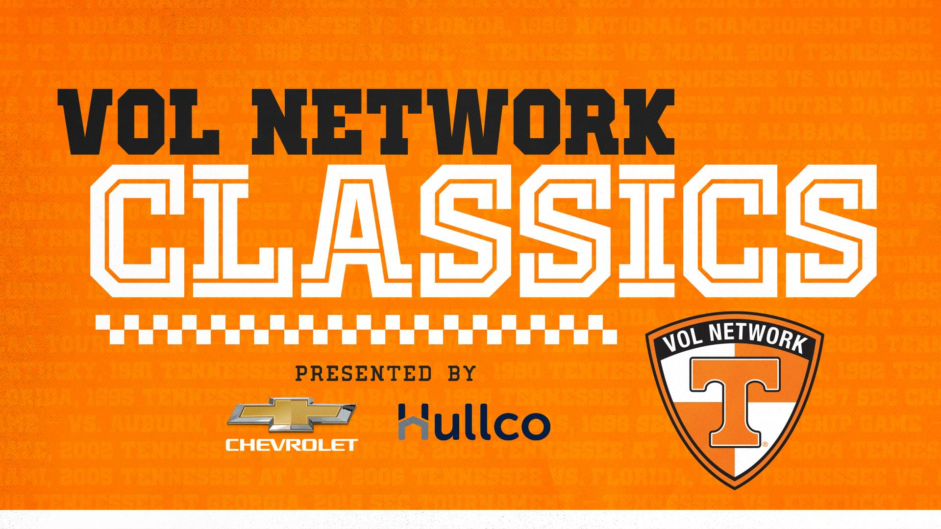 "Listen to ""Vol Network Classics"" Series Saturdays at Noon"