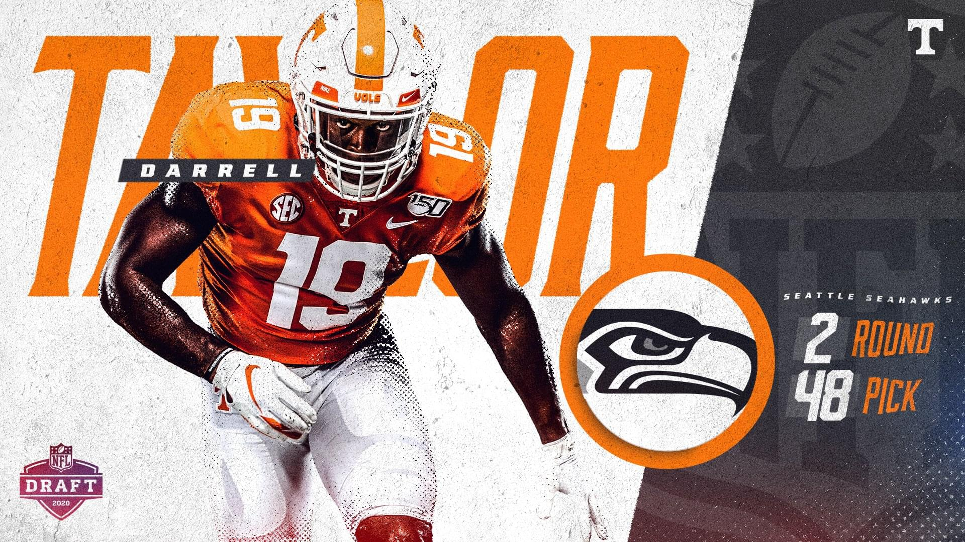Seahawks Trade Up, Pick Darrell Taylor in Second Round of 2020 NFL Draft