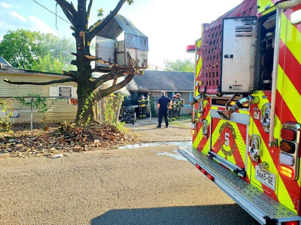Powell House Fire Caused by Fireworks