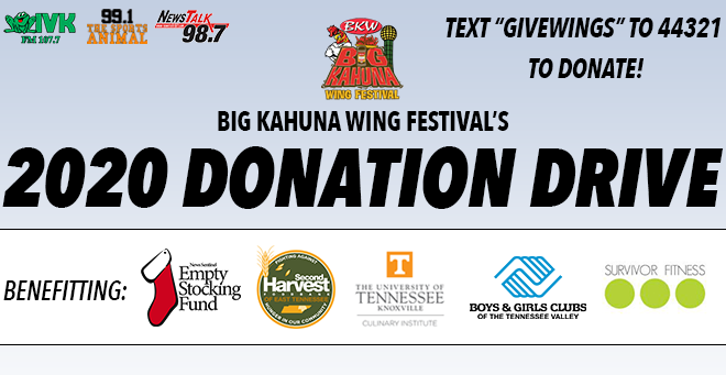 Big Kahuna Wing Festival's 2020 Donation Drive