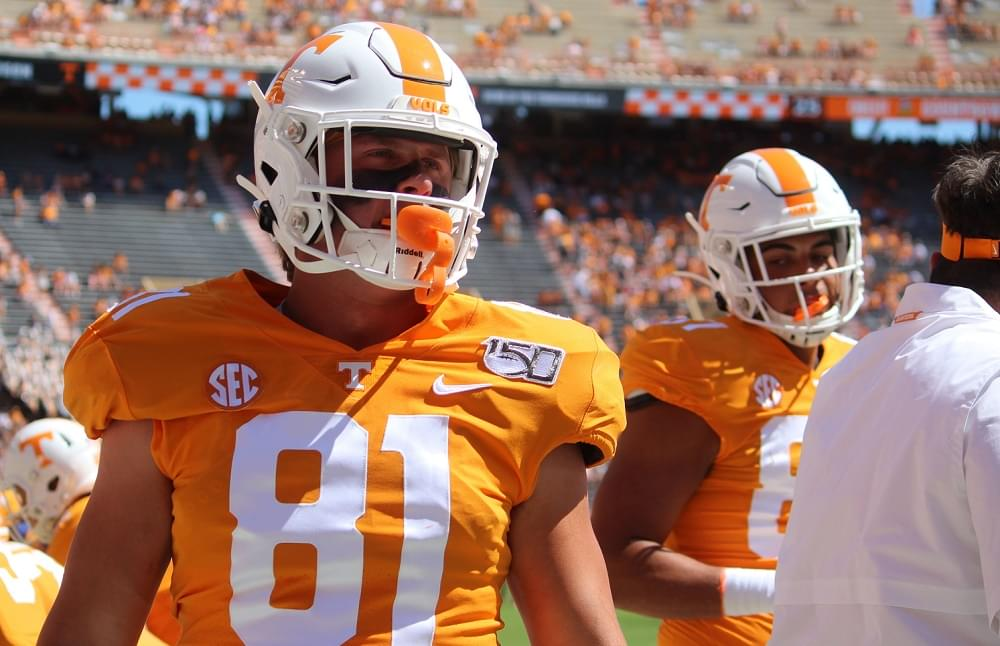Vols starting TE Austin Pope out after back surgery