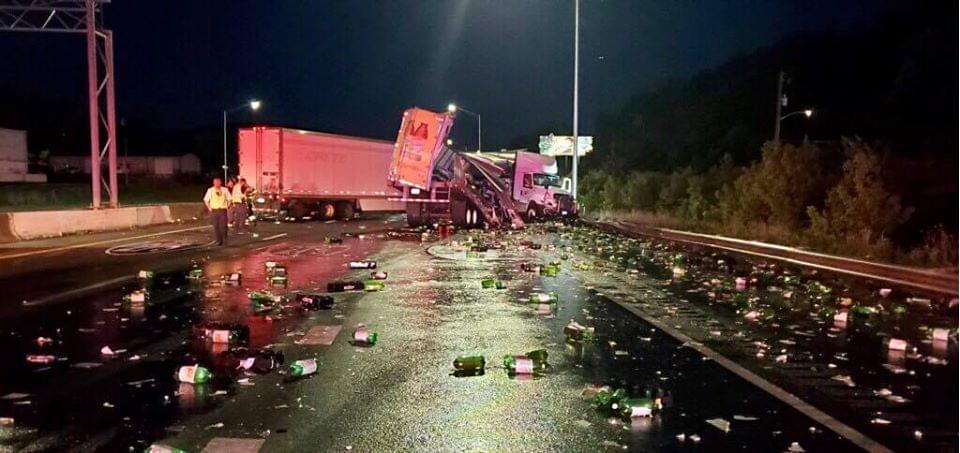 Tractor Trailer Crash Shuts Down I-75 Overnight