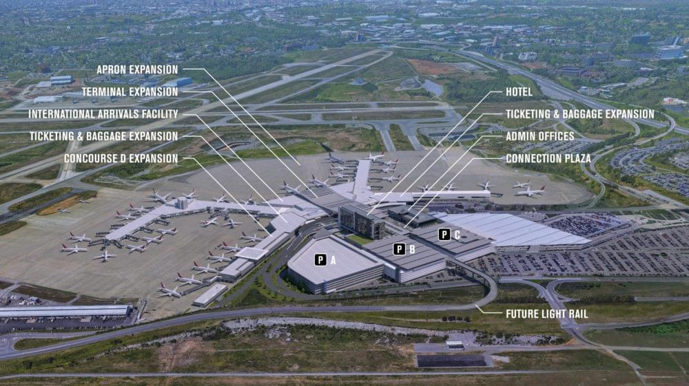 Nashville Airport Splitting in Two for Construction