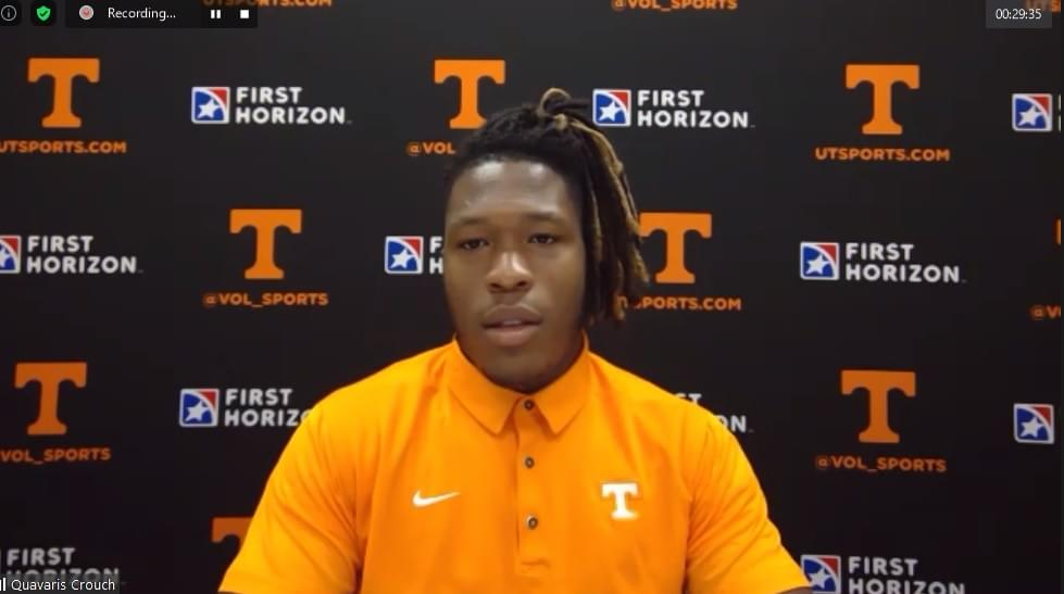 VIDEO: Quavaris Crouch gushes over Henry T, talks development and rest of LBs