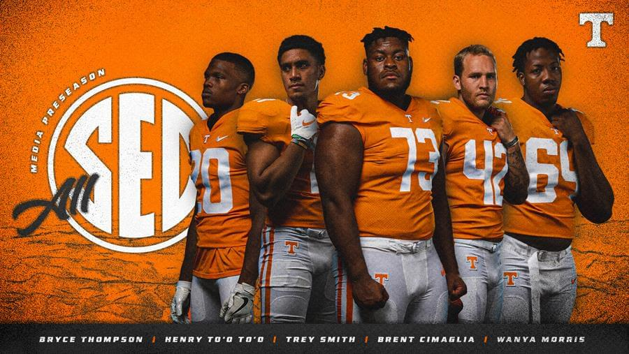 Five Vols Garner Preseason All-SEC Honors from Media