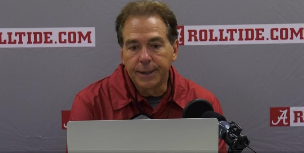 """WATCH: Saban in UT postgame """"I don't think we really sort of played our best"""""""