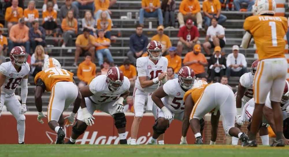 Field level, aerial and slow-mo highlights of Alabama at UT