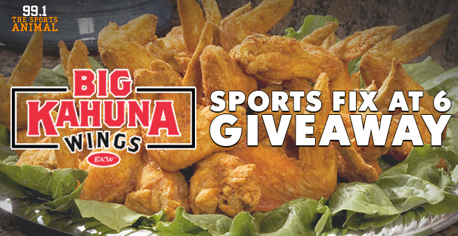 Big Kahuna Wings Sports Fix at 6 Giveaway