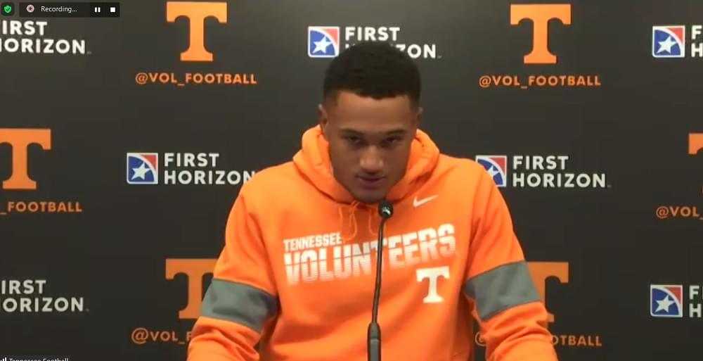 WATCH: Alontae Taylor Texas A&M postgame
