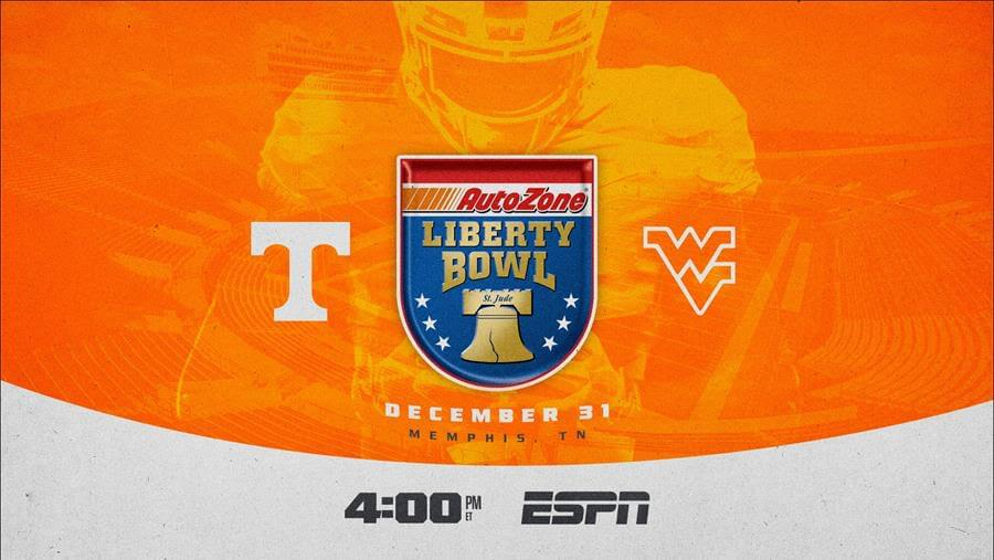 Tennessee, West Virginia To Meet In 62nd AutoZone Liberty Bowl on New Year's Eve