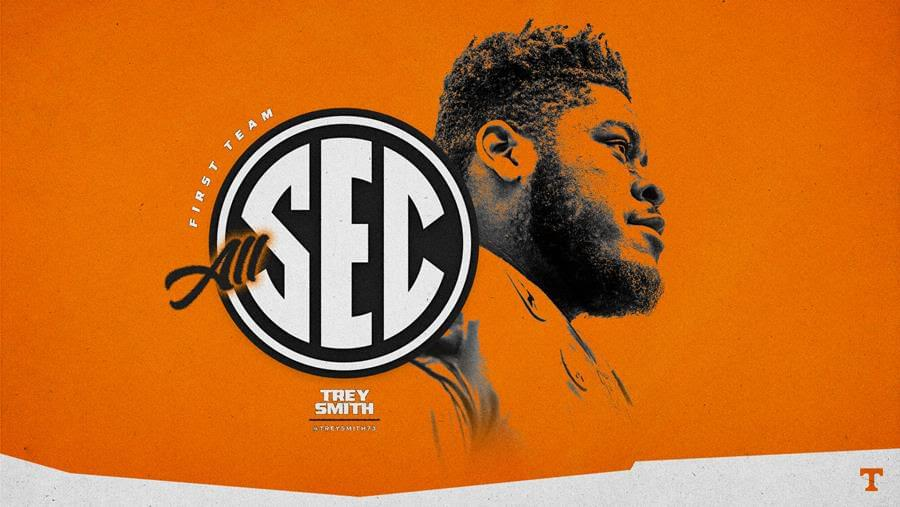 Trey Smith Named to Coaches All-SEC First Team For Second Straight Season