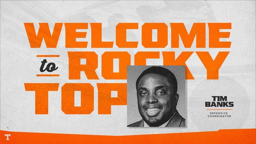 Tim Banks Named Tennessee Defensive Coordinator