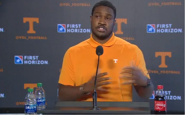 WATCH: Kodi Burns Vols WR Coach