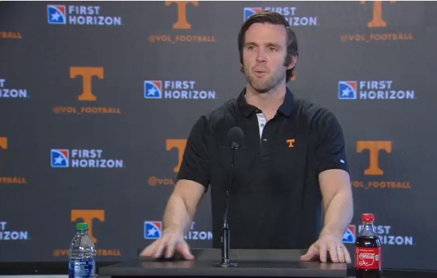 "WATCH: Vols QB Coach Joey Halzle talking QB play ""We are going to let you rip it"""