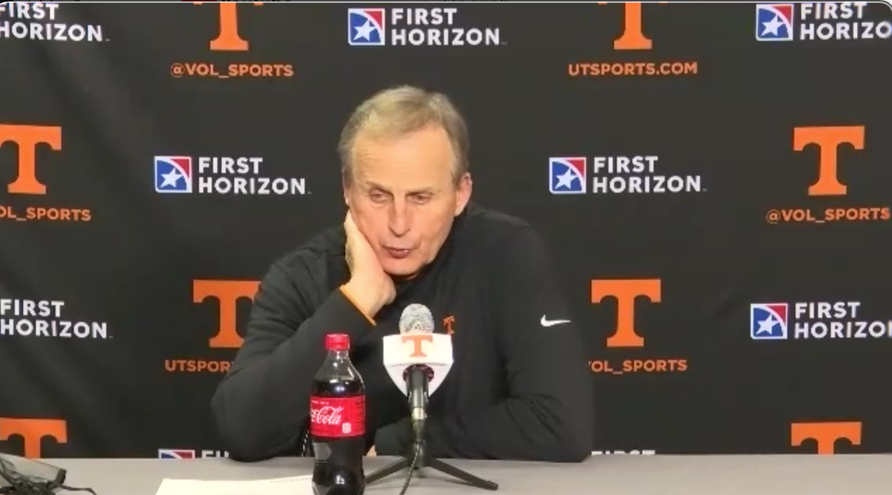 "WATCH: Rick Barnes Kentucky postgame ""If we're not getting better we're getting worse"""