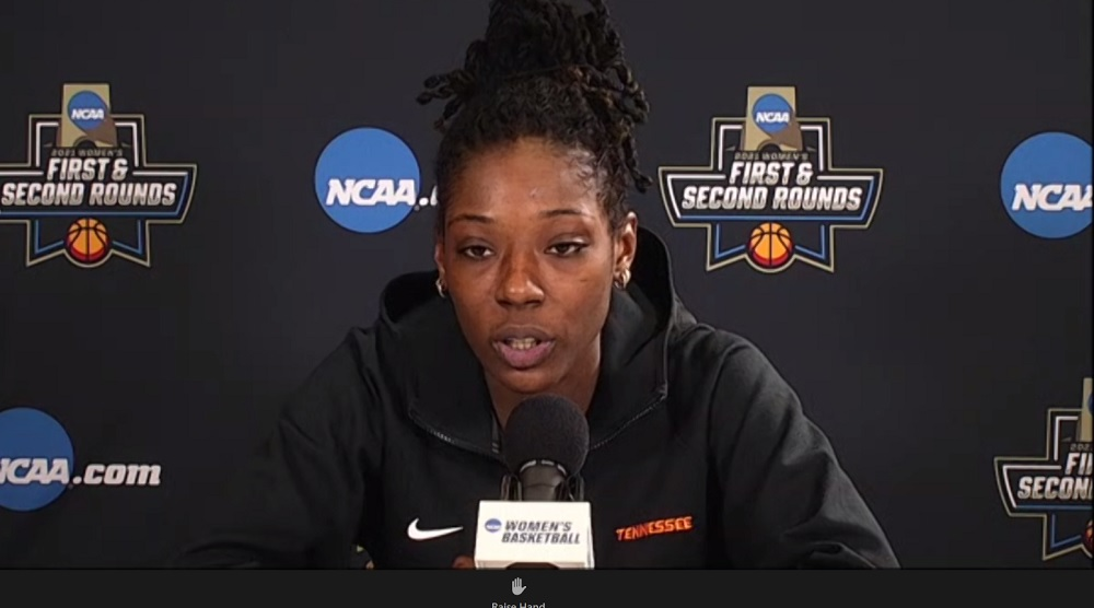 WATCH: Rennia Davis talks 1st Rd win over MTSU