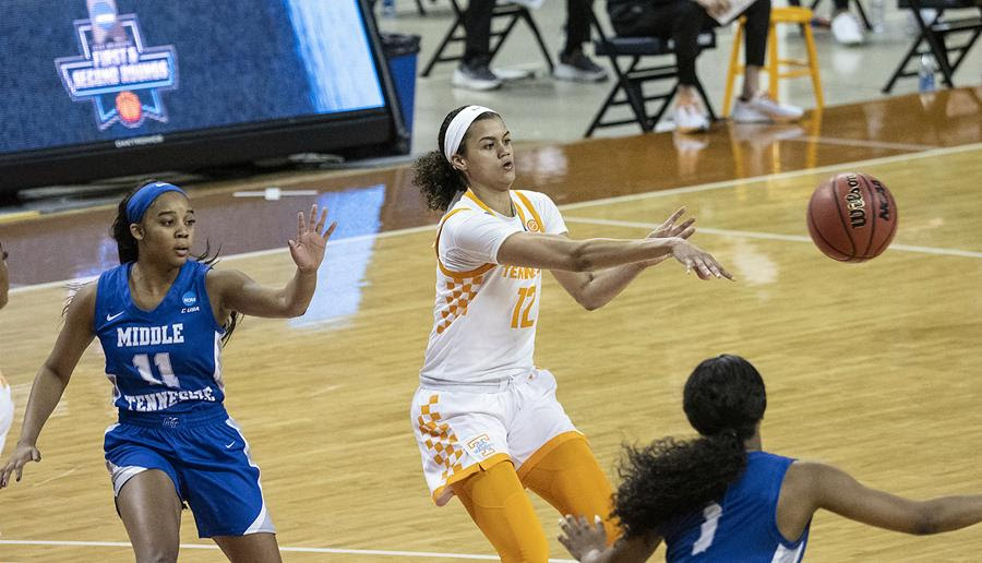 Highlights/Postgame/Boxscore/Story: No. 13/15 UT Defeats MT In NCAA First Round, 87-62