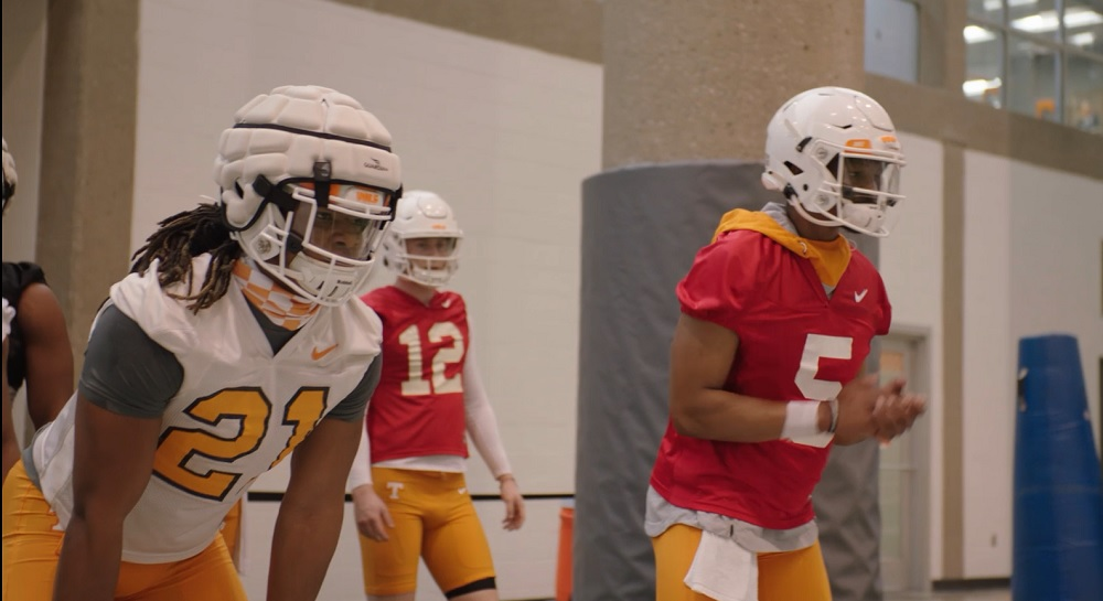 WATCH: 2021 Tennessee Football Spring Practice 1
