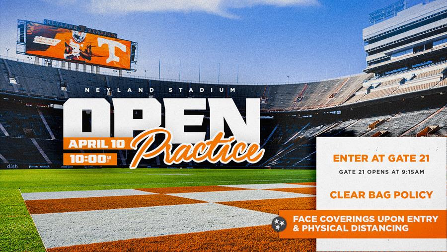 Tennessee Football To Hold Open Practice Saturday in Neyland Stadium