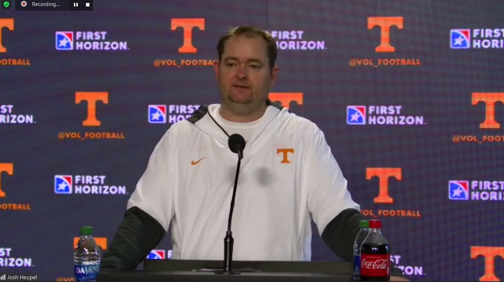 WATCH: Heupel on first scrimmage, suspended players, QBs, open practice and much more