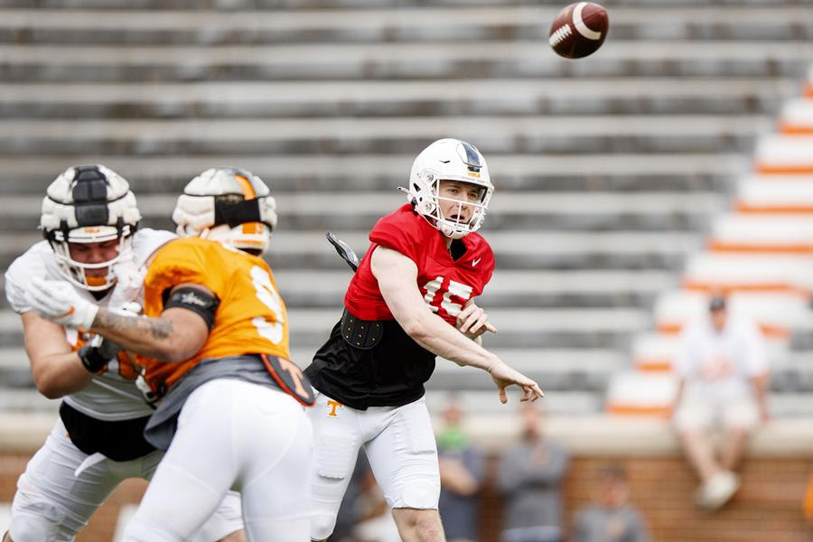 """Transcript: Heupel Puts Vols Through """"Full Throttle"""" First Spring Scrimmage, discusses it after"""